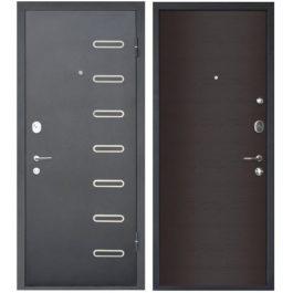 Дверь входная металлическая МеталЮр М29 правая 2050х960 мм снаружи металл Черный бархат внутри МДФ Дуб французский темный