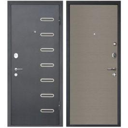 Дверь входная металлическая МеталЮр М29 правая 2050х960 мм снаружи металл Черный бархат внутри МДФ Дуб французский серый
