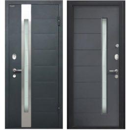 Дверь входная металлическая МеталЮр М36 правая 2050х960 мм снаружи металл Черный бархат внутри МДФ с ПВХ Антрацит