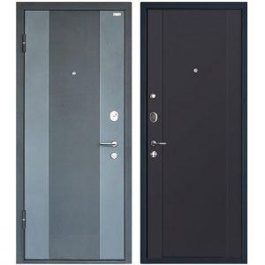Дверь входная металлическая МеталЮр М27 левая 2050х860 мм снаружи металл Черный бархат внутри МДФ Антрацит