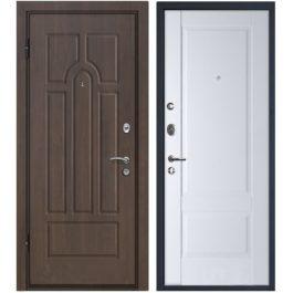 Дверь входная металлическая МеталЮр М12 левая 2050х860 мм снаружи МДФ винорит внутри МДФ Аляска