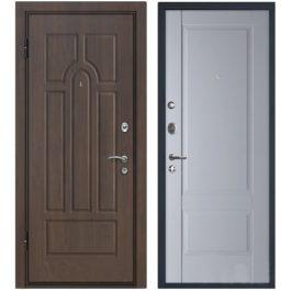 Дверь входная металлическая МеталЮр М12 левая 2050х860 мм снаружи МДФ винорит внутри МДФ Манхеттен