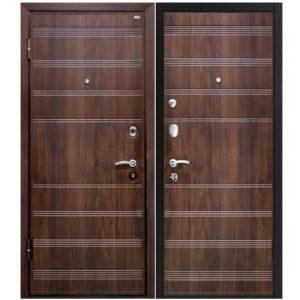 Дверь входная металлическая МеталЮр М1 левая 2050х860 мм снаружи и внутри МДФ винорит Венге