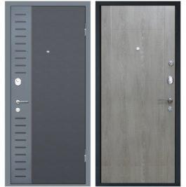 Дверь входная металлическая МеталЮр М28 правая 2050х960 мм снаружи металл Черный бархат внутри МДФ Дуб шале седой